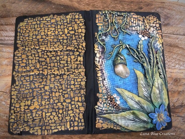 Crystals, Gemstones, Healing Stones Personalized Journals, Polymer Clay Covered Journals – Luna Blue Gifts   Handmade Polymer Clays
