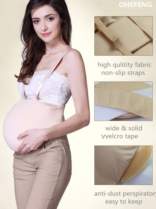85.00$ Buy now - http://alixws.worldwells.pw/go.php?t=32416761758 - 7-8 month Fake Pregnant Belly 2500g Silicone Clothbag Tummy soft lifelike MOQ1 free shipping cross dresser drag queen stage prop