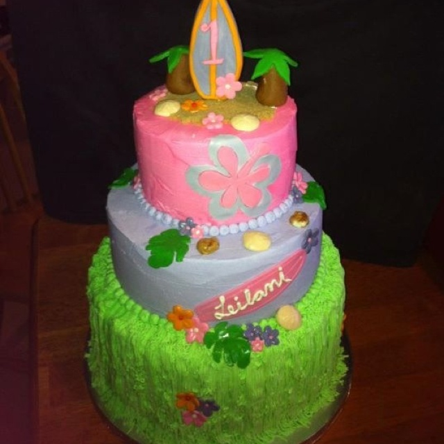 Luau Birthday Cakes Pinterest