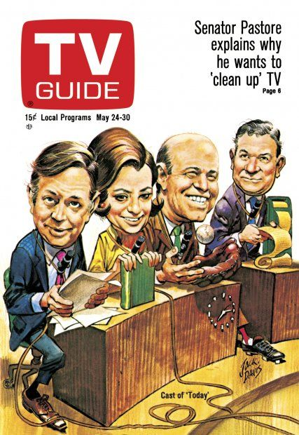 TV Guide May 24, 1969 - The Cast of The Today Show. Illustrated by Jack Davis.