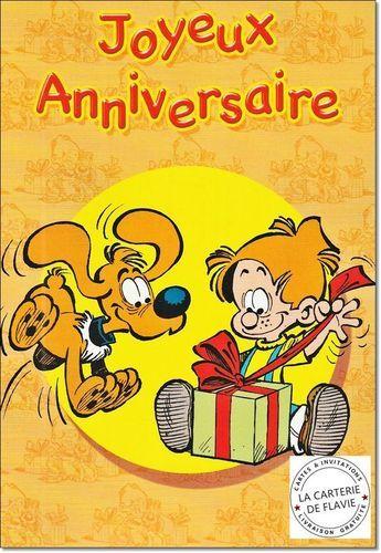 Cartes Boule et Bill pour anniversaire ou une fête. Enveloppe & Livraison gratuite  à retrouver sur notre site:  http://lacarteriedeflavie.com/Cartes-Boule-et-Bill-anniversaire