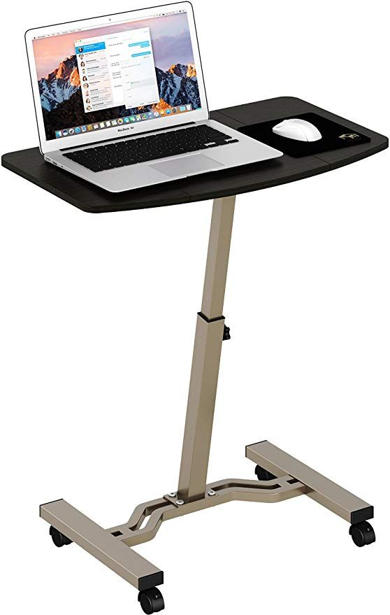 Amazon.com : SHW Height Adjustable Mobile Laptop Stand Desk Rolling on mobile food tray, mobile computer tray, mobile tv tray, mobile keyboard tray,
