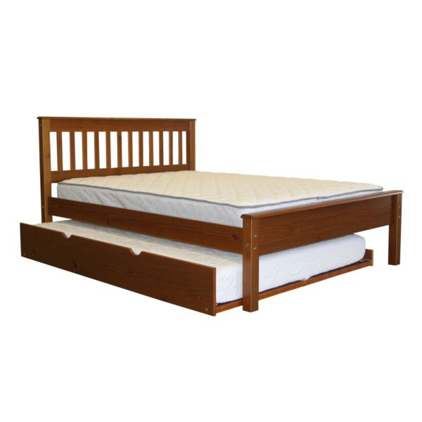 Full Bed Expresso With Full Trundle In Expresso