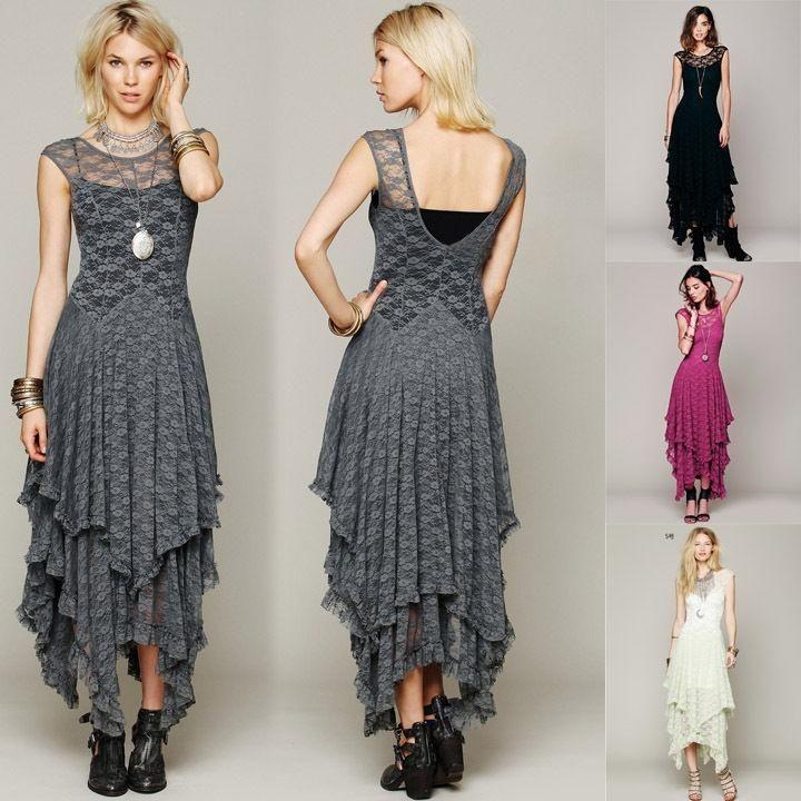 Boho Embroidery Lace Dress
