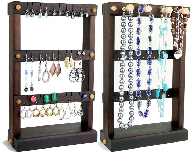 Jewelry Holder Stand Earring Holder Wood Stands For