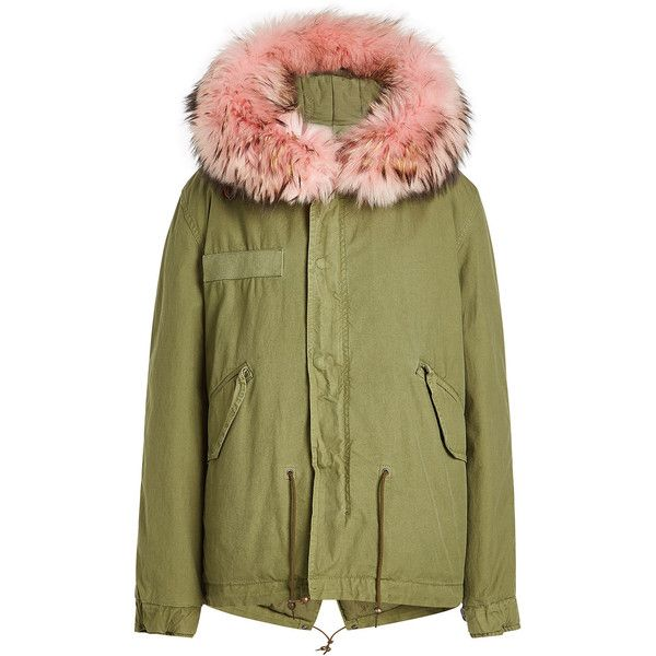 Mr & Mrs Italy Cotton Parka ($1,840) ❤ liked on Polyvore featuring outerwear, coats, green, green parka coat, parka coat, cotton parka, cotton coat and green coats