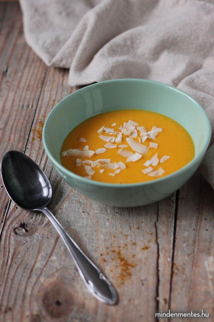 Kókuszos, currys sütőtök krémleves #gluténmentes #tejmentes #vegán |mindenmentes.hu