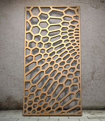 Geometric | Miles and Lincoln | Laser cut panels (http://www.pinterest.com/AnkAdesign/design-materials/)
