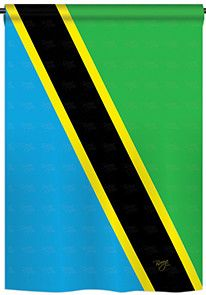 Tanzania 2-Sided Vertical Flag