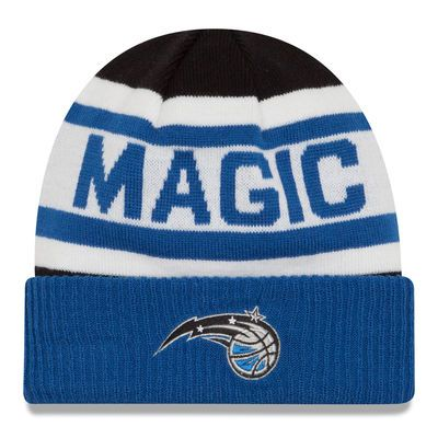 Men's New Era Black Orlando Magic Current Logo Biggest Fan 2.0 Cuffed Knit Hat