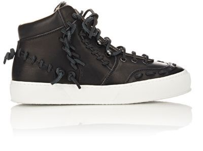 Maison Margiela Leather High-Top Sneakers at Barneys New York