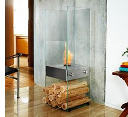 See-through designer fireplace centrepiece from EcoSmart Fire