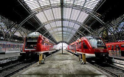 壁紙をダウンロードする platform, ライプツィヒ, 電車, ドイツ