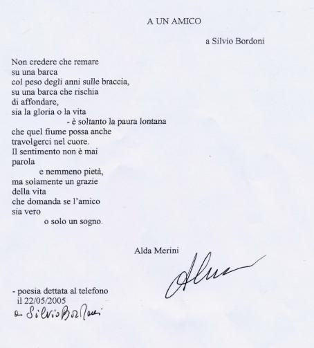 A un amico   Poesie di Alda Merini   Poesie