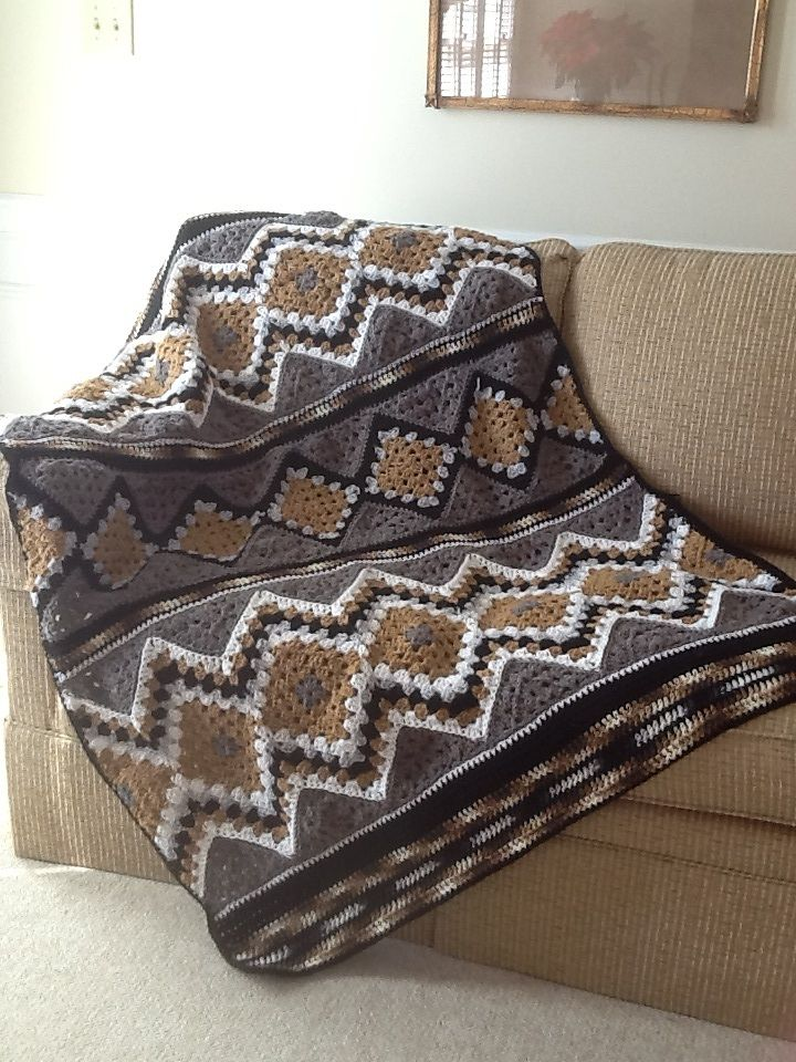Modular SouthWest Design-It-Yourself Throw By Judith Russell - Free Crochet Pattern - (ravelry)