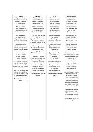 Versos personalizados para finalistas