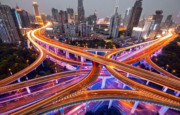 Big Crossing, Shanghai Yanan highway, 上海, 延安高架 by davis hsing on 500px
