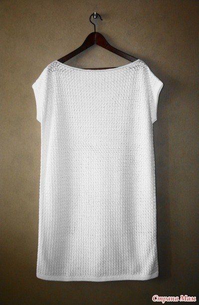 Простое белое платье