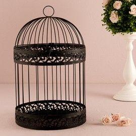 Gabbia decorativa matrimonio nero