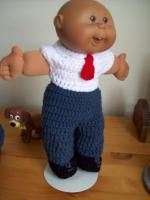 """Church on Sunday - crocheted outfit pattern for a 14"""" CPK doll."""