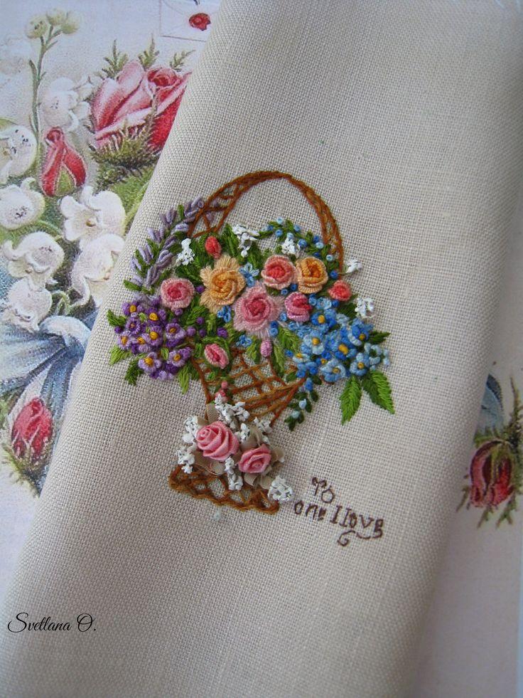 Embroidery, bullion stitch