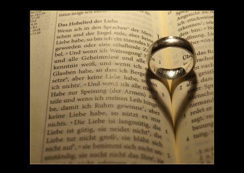 Hohelied der liebe mit Ring