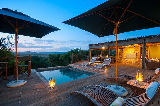 View from the pool at HillsNek Safari Camp
