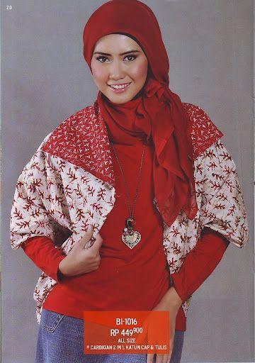 #Cardigan #batik nuansa merah putih dan dwi fungsi