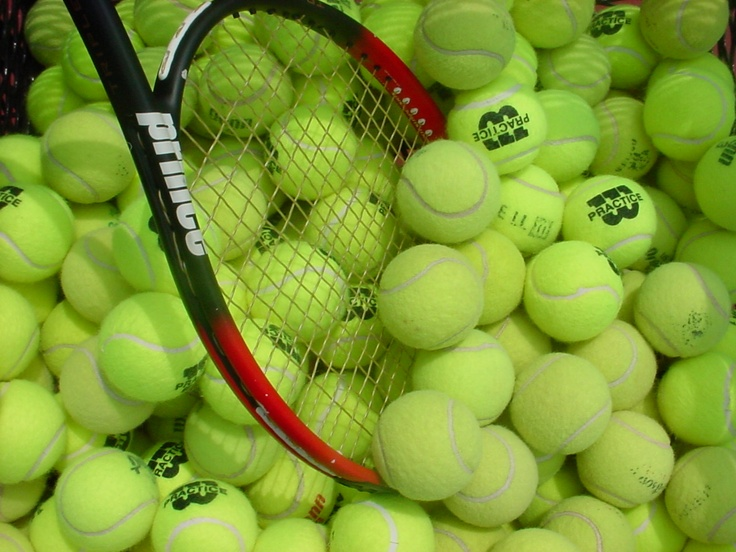 Tennis balls and racket!!!!