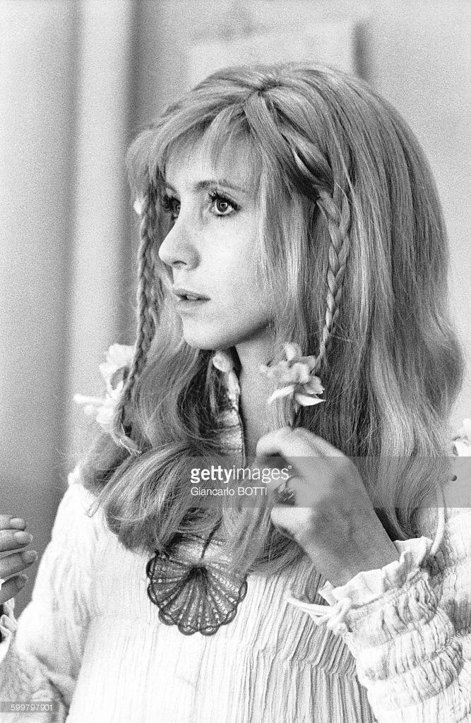 Portrait de l'actrice française Bulle Ogier .