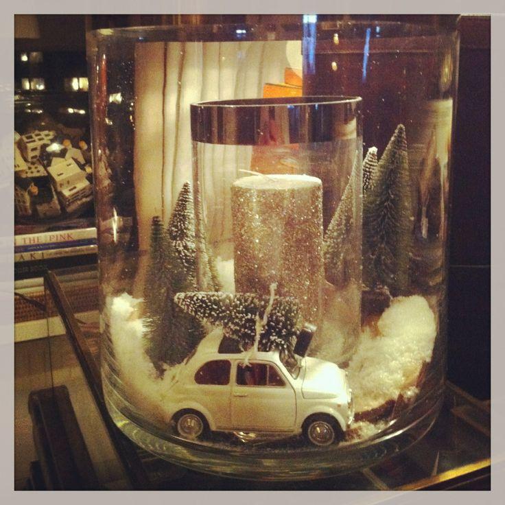 wintersfeer achter glas (aquarium?)