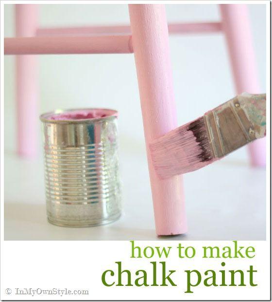how to make chalk paint - tutorial & pros & cons...plaster of paris, wax, etc.