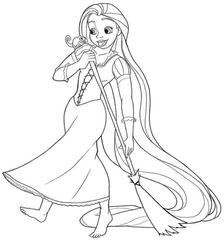 153 best images about Tangled Colouring Pages on Pinterest ...