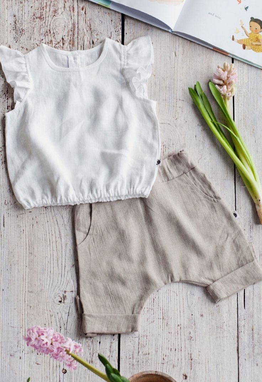 Handmade Linen Baby Blouse & Pants | NoisyForest on Etsy