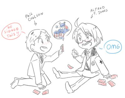 Coulson and Alfred oh God they're such dorks c: