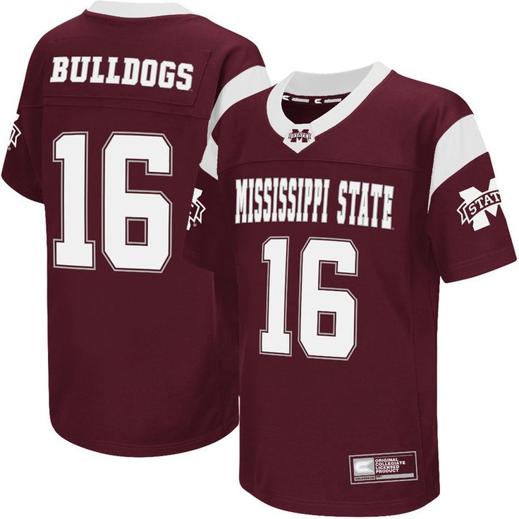 #16 Mississippi State Bulldogs Colosseum Youth Football Jersey - Maroon