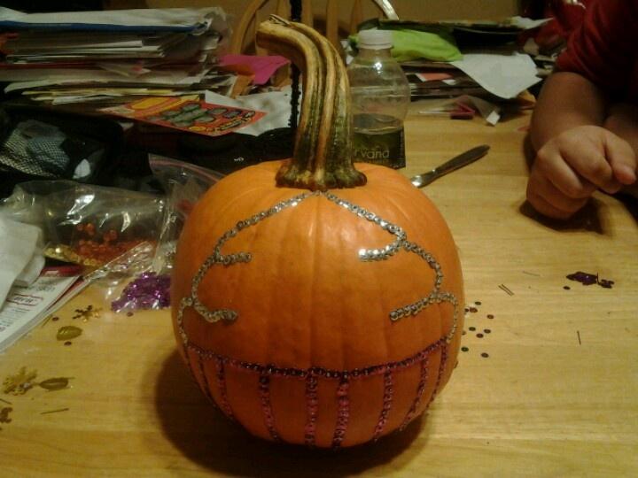 Sequin cupcake pumpkin!