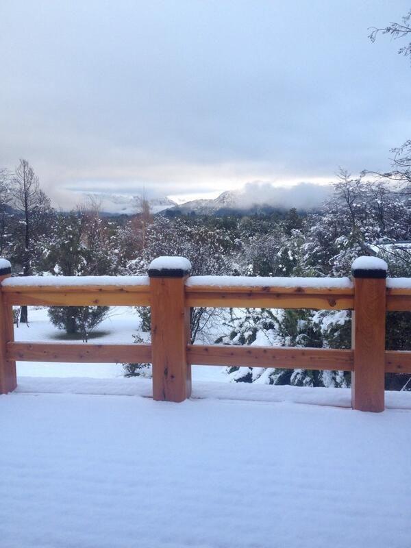 Mañana nevada en Bariloche