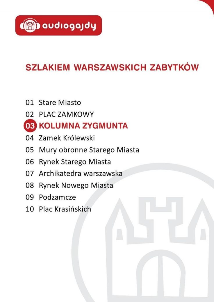 Kolumna Zygmunta. Szlakiem warszawskich zabytków