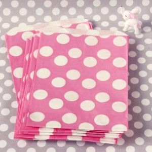 polka dot bags polka dot party pink polka dots pink zebra party favor ...