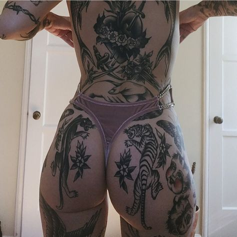 "4,812 Likes, 33 Comments - Ink Tease Magazine (@inkteasemag) on Instagram: ""One of the best tatted bums out there!! @moldiegoldies #Tatted #Tattoo #Tattoos #TattedUp…"""