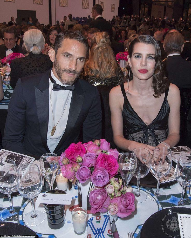 Karl Lagerfeld's personal assistantSebastien Jondeau sat alongsideCharlotte Casiraghi...