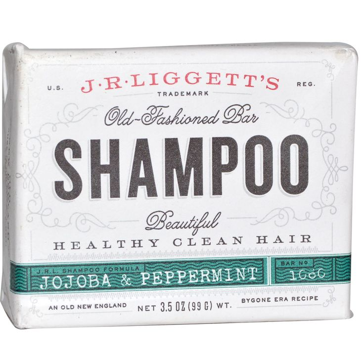 J.R. Liggett's, Old Fashioned Bar, Shampoo, Jojoba & Peppermint, 3.5 oz (99 g)