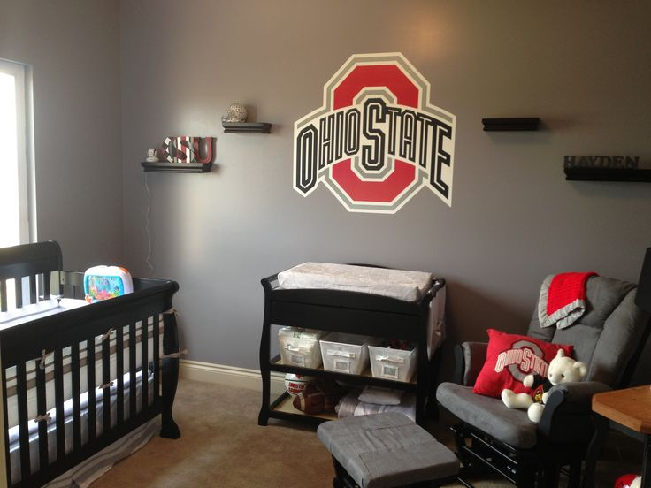 Hayden's room! Ohio State nursery