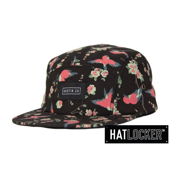 Love this 5 panel hat with bird print