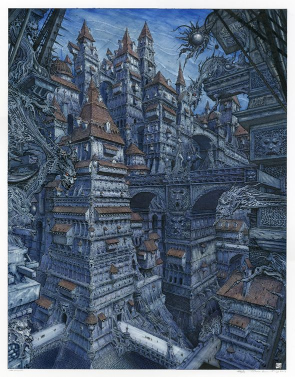 Ian Miller is an artist, illustrator and writer based in the U.K Aside from Miller's trees, I think his castles are incredibly unique - such intricate patterns and textures!