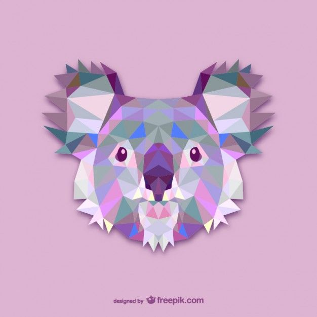 Projeto triângulo koala Vetor grátis