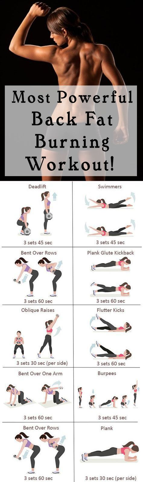 Most Powerful Back Fat Burning Workout! #fat #health #fitness    Posted By: NewHowToLoseBellyFat.com