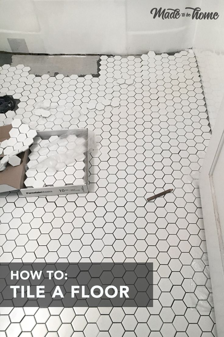 How To Tile The Bathroom Floor With Images Simple Bathroom