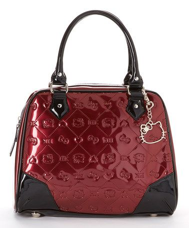 Love this Berry Embossed Patent Hello Kitty Shoulder Bag by Hello Kitty on #zulily! #zulilyfinds